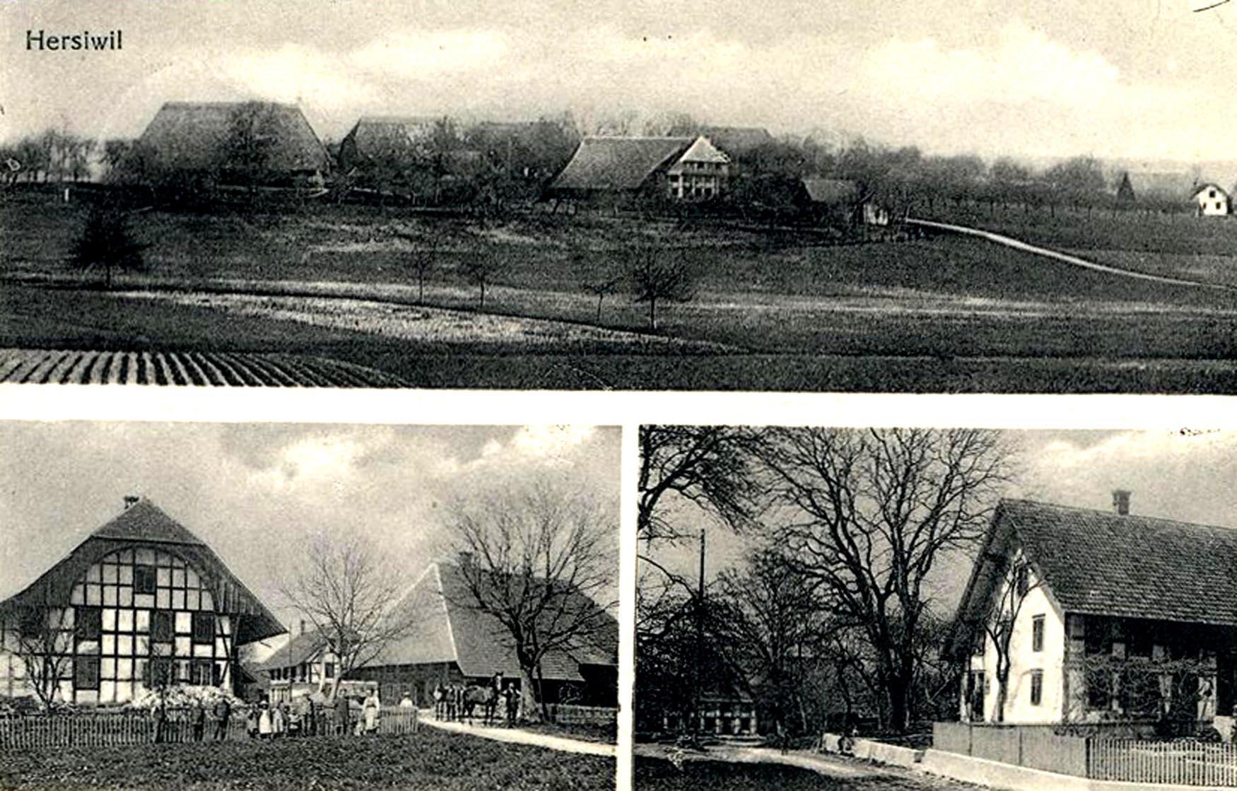 Hersiwil_um_1900_Postkarte
